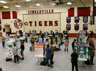 On Tuesday, students in Honors Science grades 7 and 8 met with judges from the community as they presented their research as a part of the annual Circleville Middle School Science Fair and STEM Day.